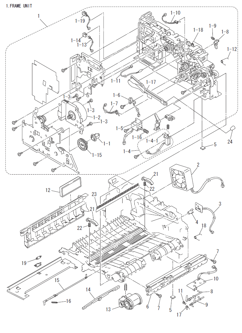 medium resolution of brother dcp 7020 parts list and parts diagrams