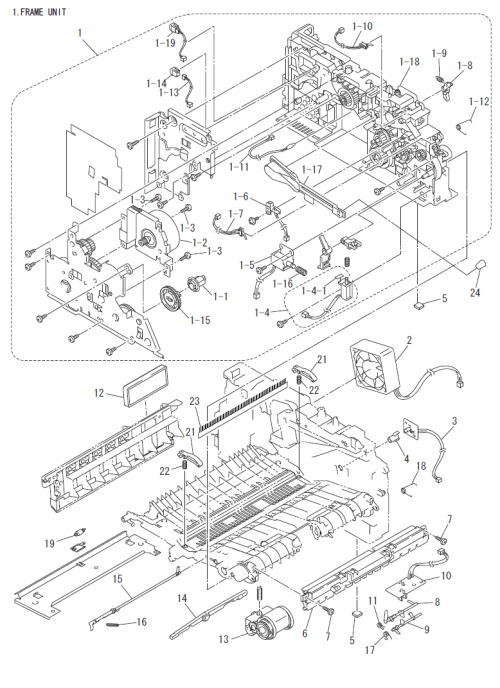 small resolution of brother dcp 7020 parts list and parts diagrams