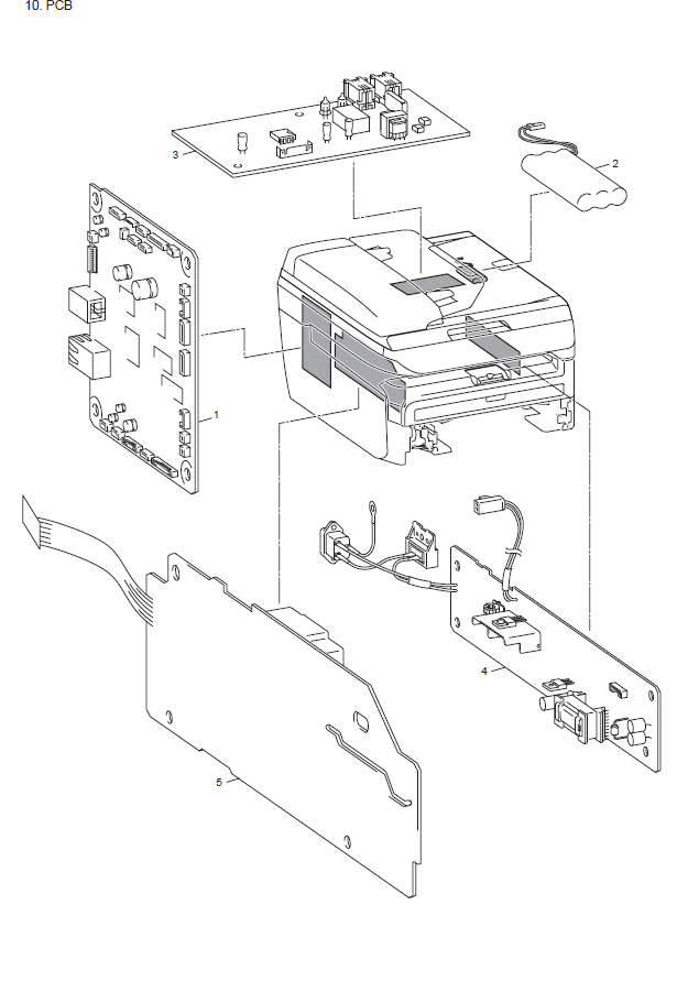 Brother MFC 7450 Parts List and Illustrated Parts Diagrams