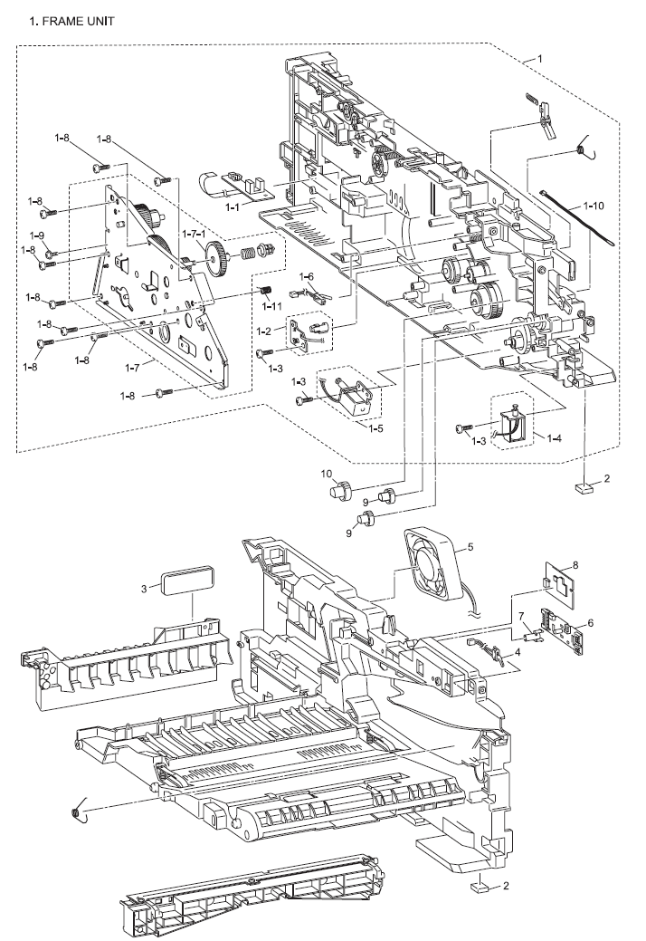 Brother MFC 7320 Parts List and Illustrated Parts Diagrams