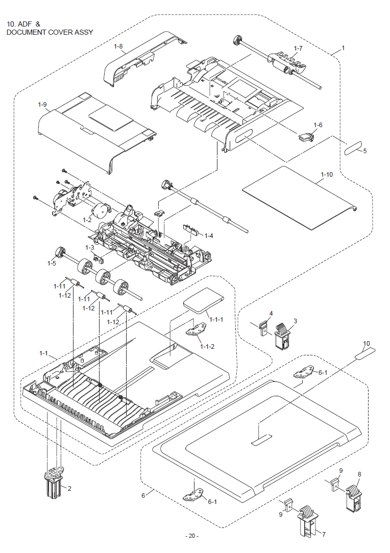 Brother HL 2280DW Parts List and Illustrated Parts Diagrams