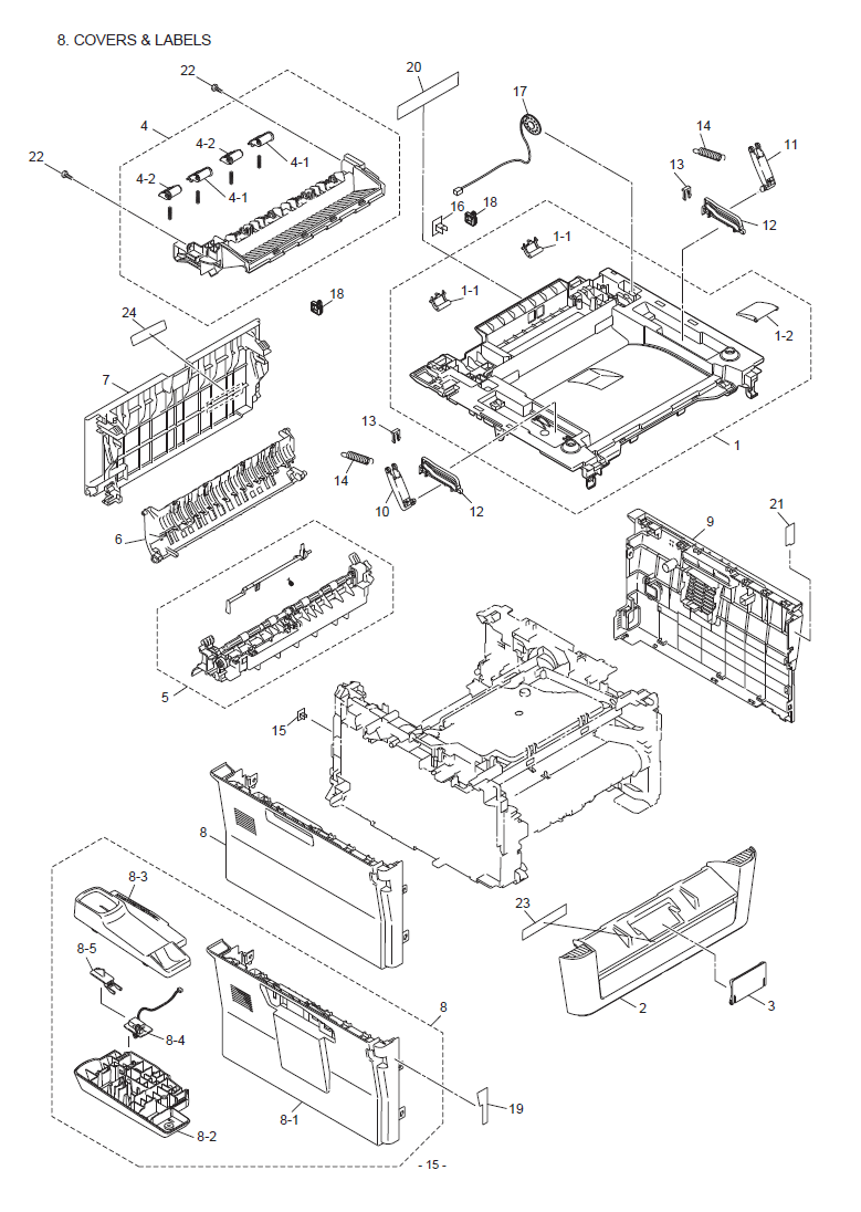 Brother MFC 7460DN Parts List and Illustrated Parts Diagrams
