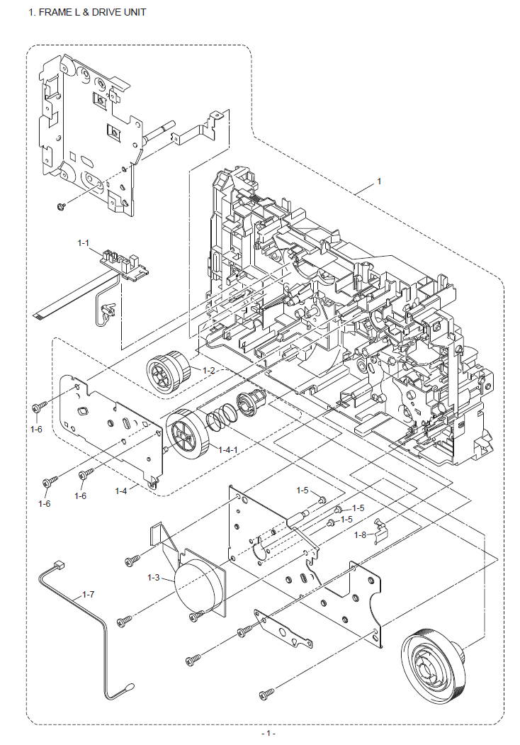 Brother DCP 7055/W Parts List and Illustrated Parts Diagrams