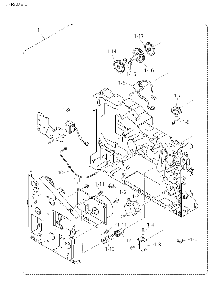 Brother DCP 8025D Parts List and Illustrated Parts Diagrams