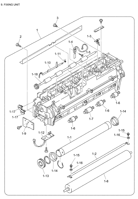 Brother MFC 8640D Parts List and Illustrated Parts Diagrams