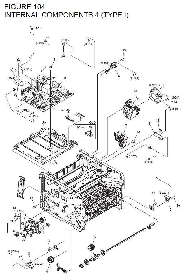 Canon imageCLASS D1180 Parts List and Diagrams