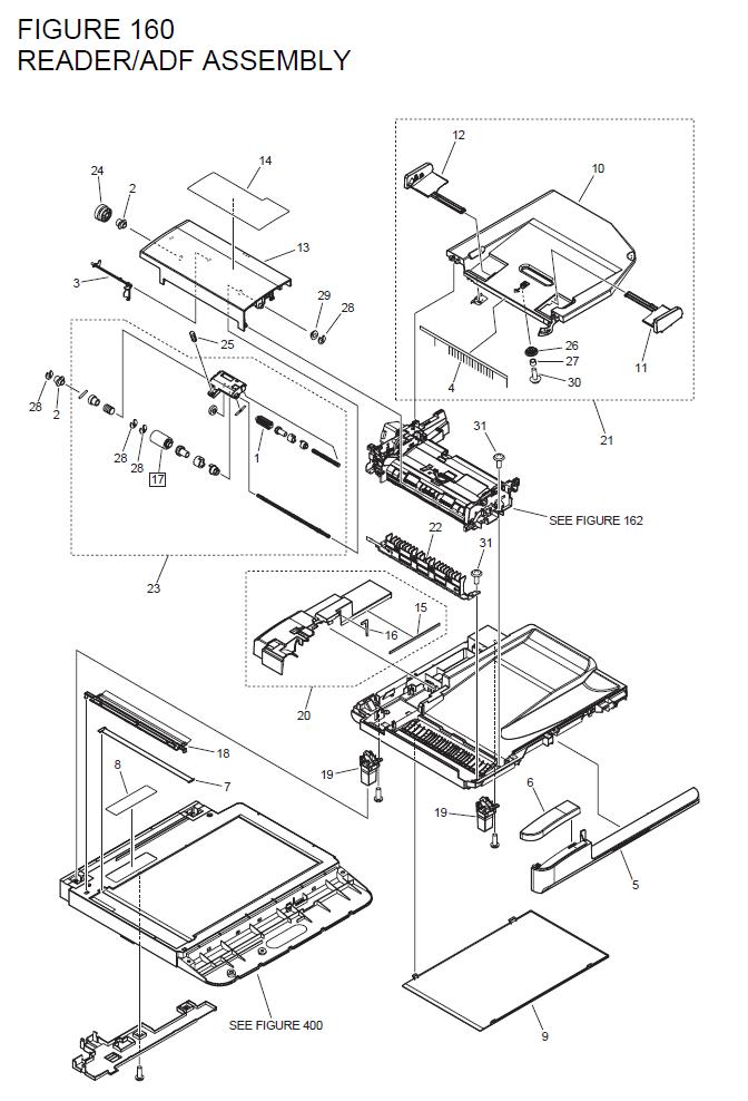 Canon imageCLASS D1120 Parts List and Diagrams