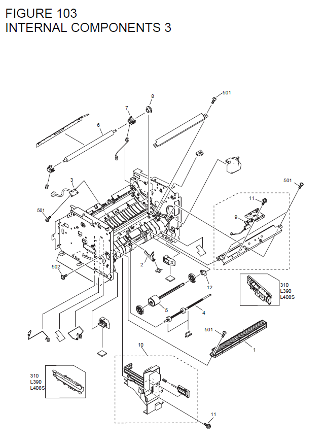 Canon FAXPHONE L180 Parts List and Diagrams