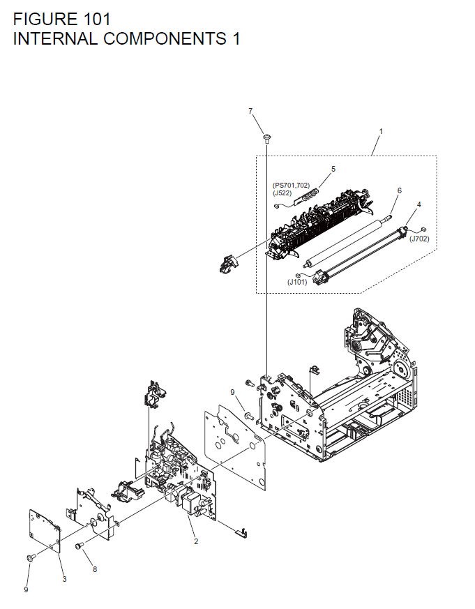 Canon i-SENSYS LBP6000 Parts List and Diagrams