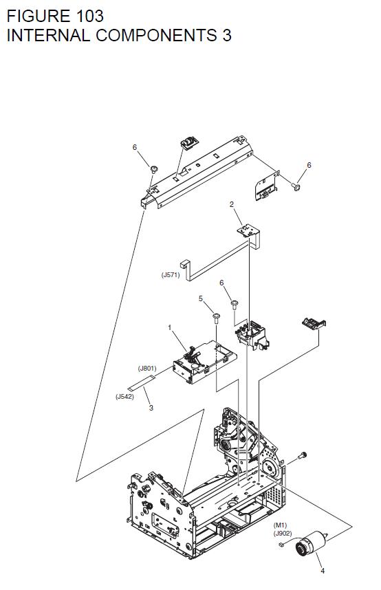 Canon LASER SHOT LBP6018B Parts List and Diagrams