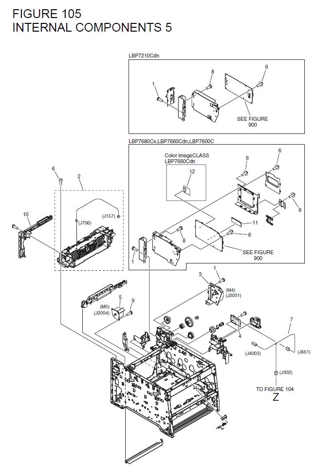Canon i-SENSYS LBP7210Cdn Parts List and Diagrams