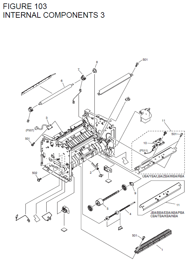 Canon LASER SHOT MF3220 Parts List and Diagrams