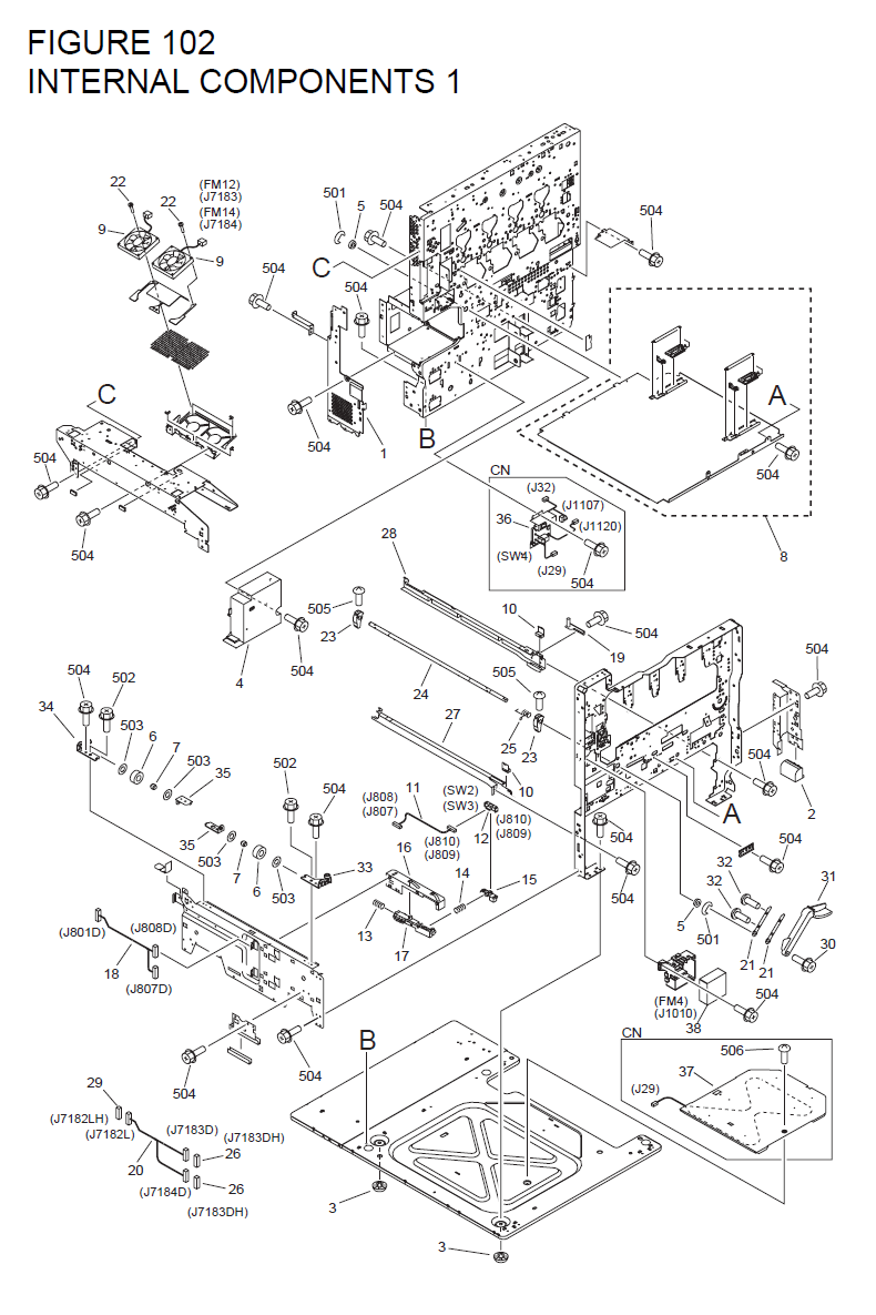 Canon imageRUNNER CLC4040 Parts List and Diagrams