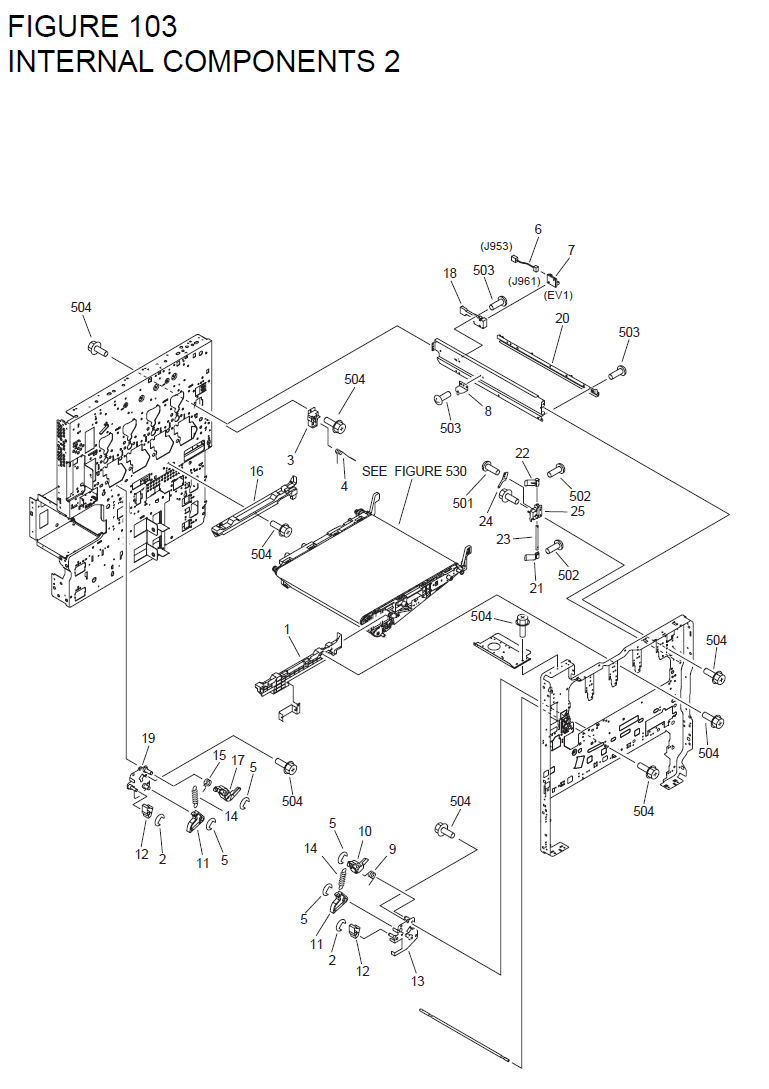 Canon imageRUNNER C4580 Parts List and Diagrams