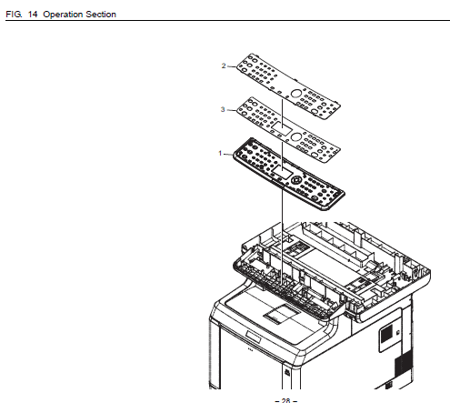 Kyocera FS-C2026MFP+ Parts List and Diagrams
