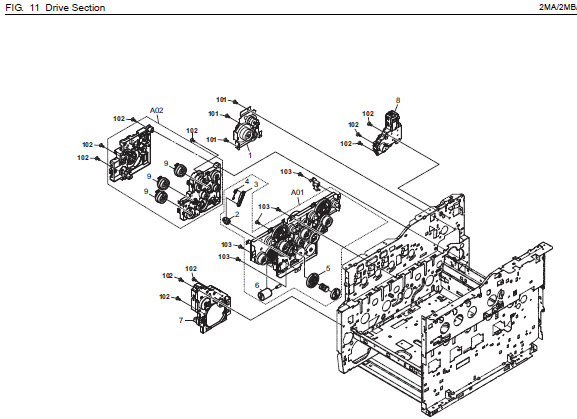 Kyocera ECOSYS M6526cdn Parts List and Diagrams