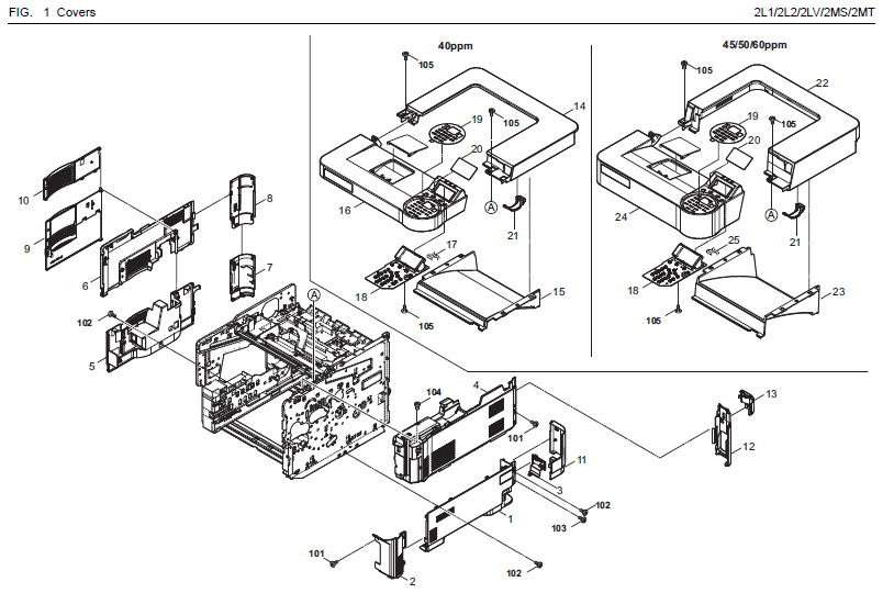 Kyocera ECOSYS FS-4300DN Parts List and Diagrams