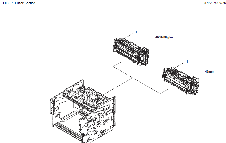 Kyocera ECOSYS FS-4200DN Parts List and Diagrams