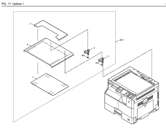 Kyocera TASKalfa 1800 Parts List and Diagrams