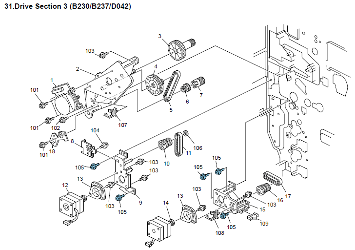 Ricoh Aficio MP C2500 Parts List and Diagrams Manual