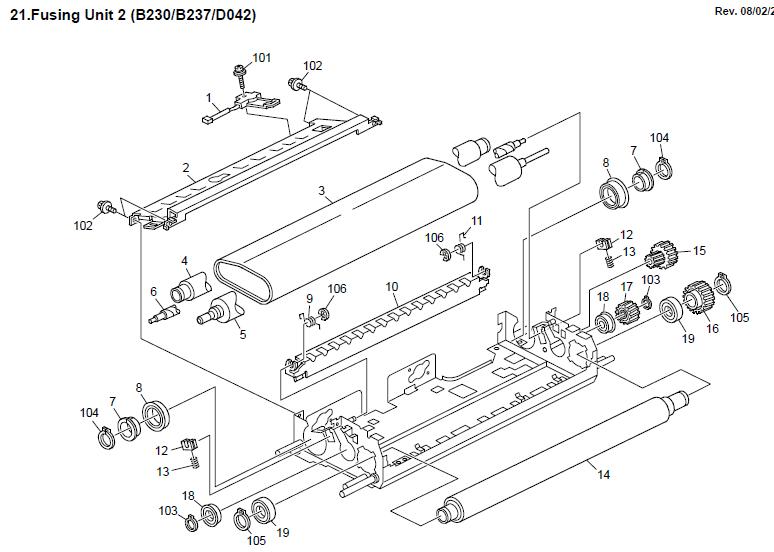 Ricoh Aficio MP C2500 Parts List and Diagrams Manual