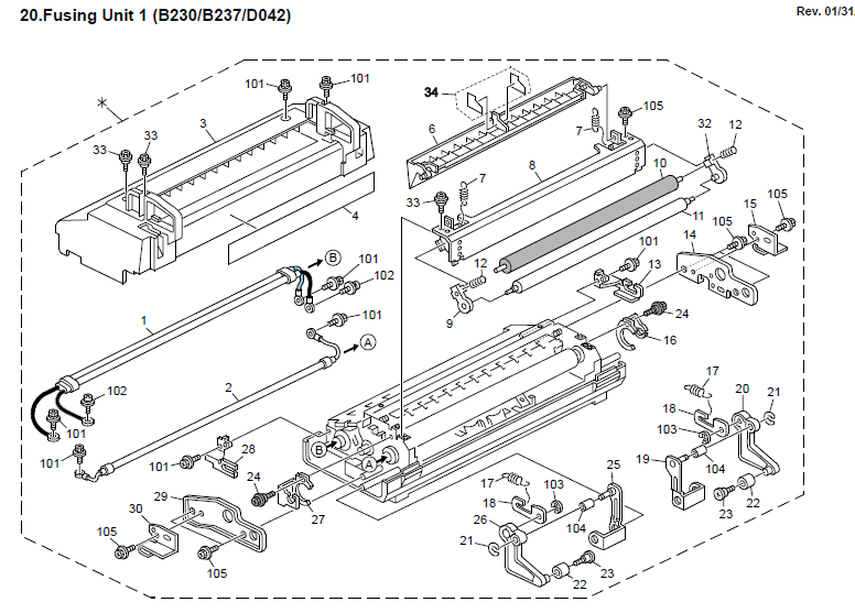 Ricoh Aficio MP C3000 Parts List and Diagrams Manual