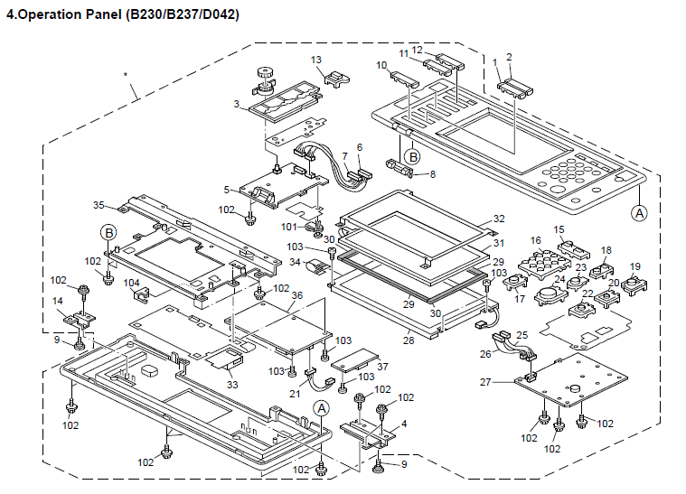 Savin C2525 Parts List and Diagrams Manual