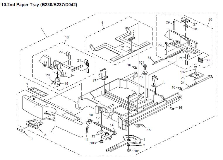 Ricoh Aficio MP C3000 Parts List and Diagrams Manual