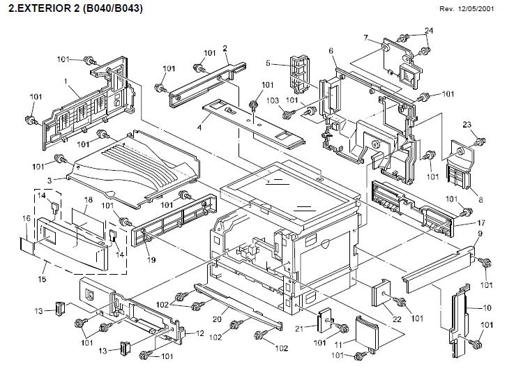 Gestetner 1312 Parts List and Diagrams
