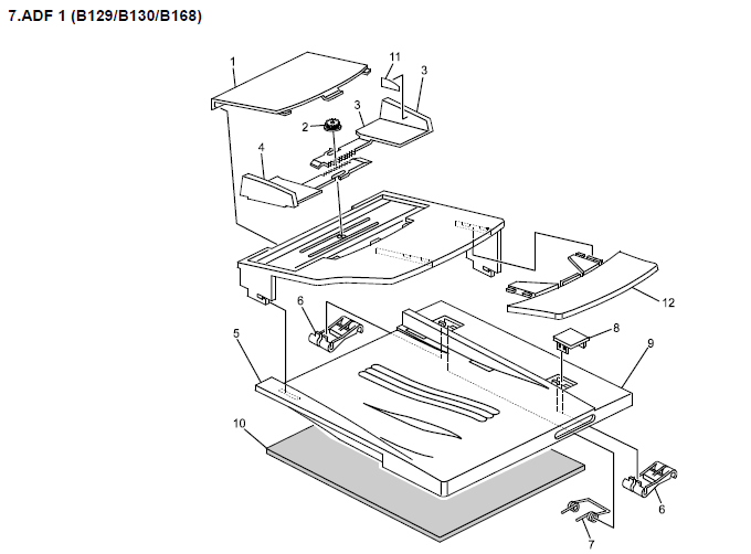 Gestetner DSm415, DSm415f, DSm415pf Parts List and Diagrams