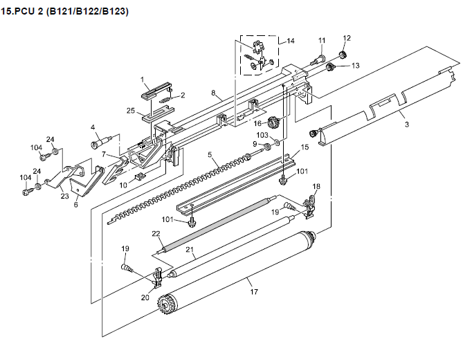 Lanier LD116, LD120, LD120d Parts List and Diagrams