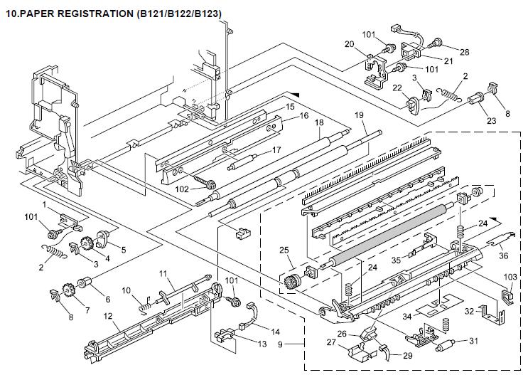 Gestetner DSm615, DSm618, DSm618d Parts List and Diagrams