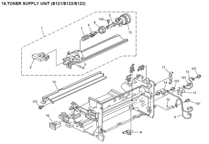 Lanier LD115, LD118, LD118d Parts List and Diagrams