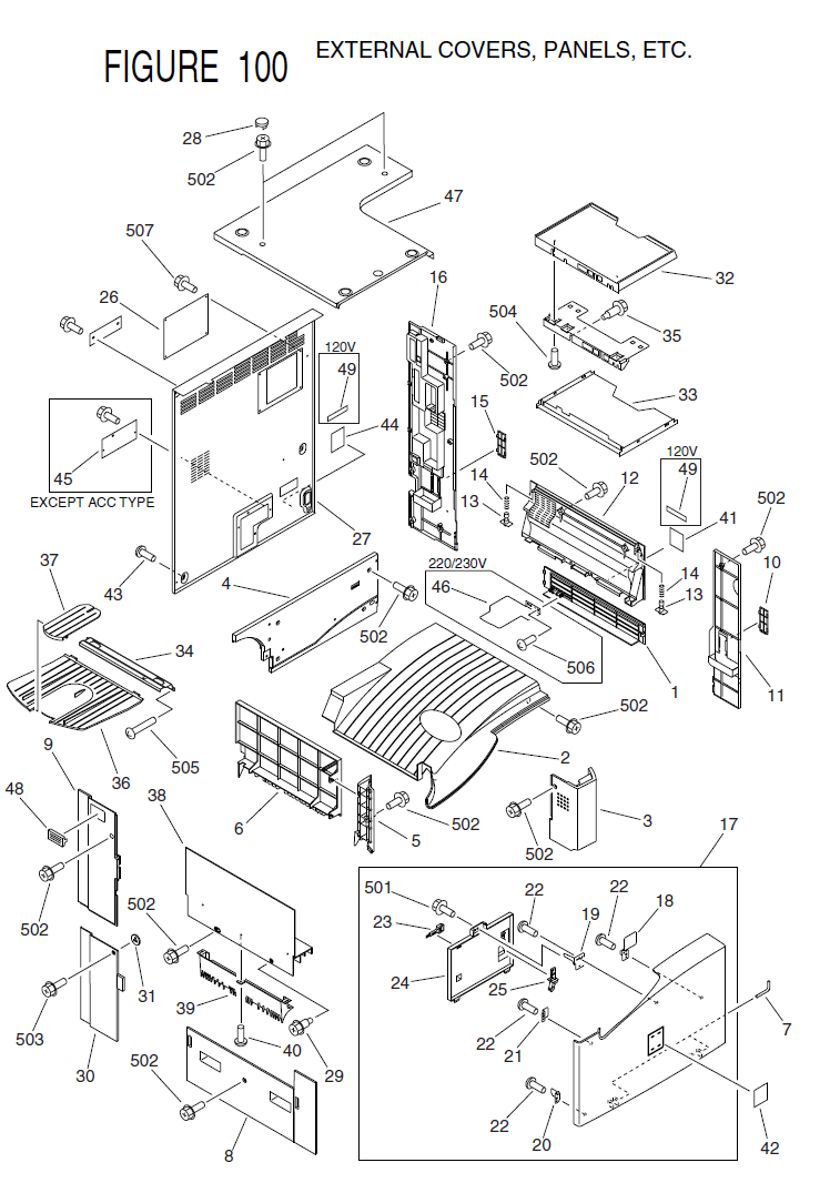 Canon imageRUNNER 2200 Parts List and Diagrams