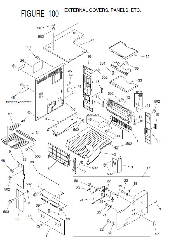 hight resolution of 2 fb5 5055 000 1 panel printer upper 3 fb5 5058 000 1 panel support left 4 fb5 5063 000 1 panel internal rear 5 fb5 5182 000 1 panel left support