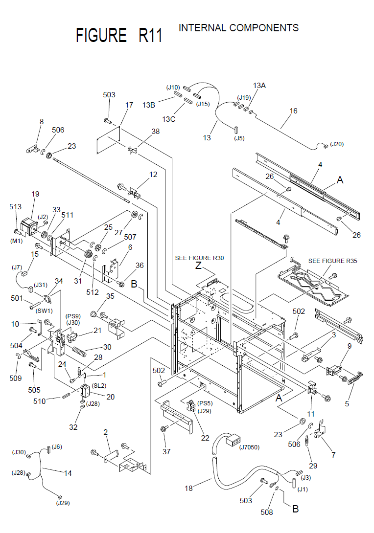 Canon imageRUNNER 3300 Parts List and Diagrams