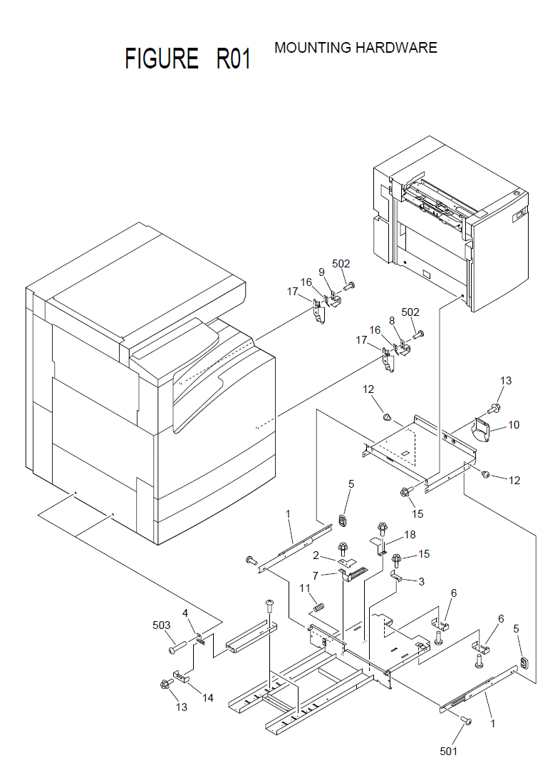 Canon imageRUNNER 2200i Parts List and Diagrams