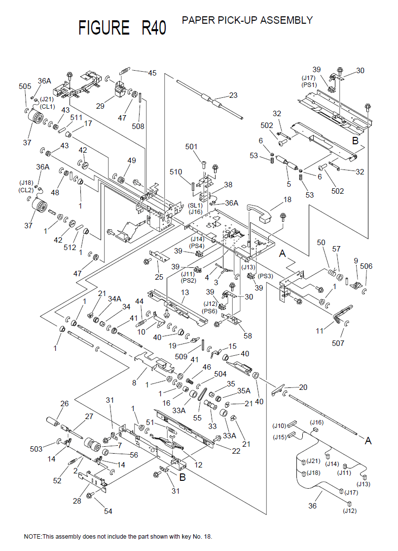 Canon imageRUNNER 2800 Parts List and Diagrams