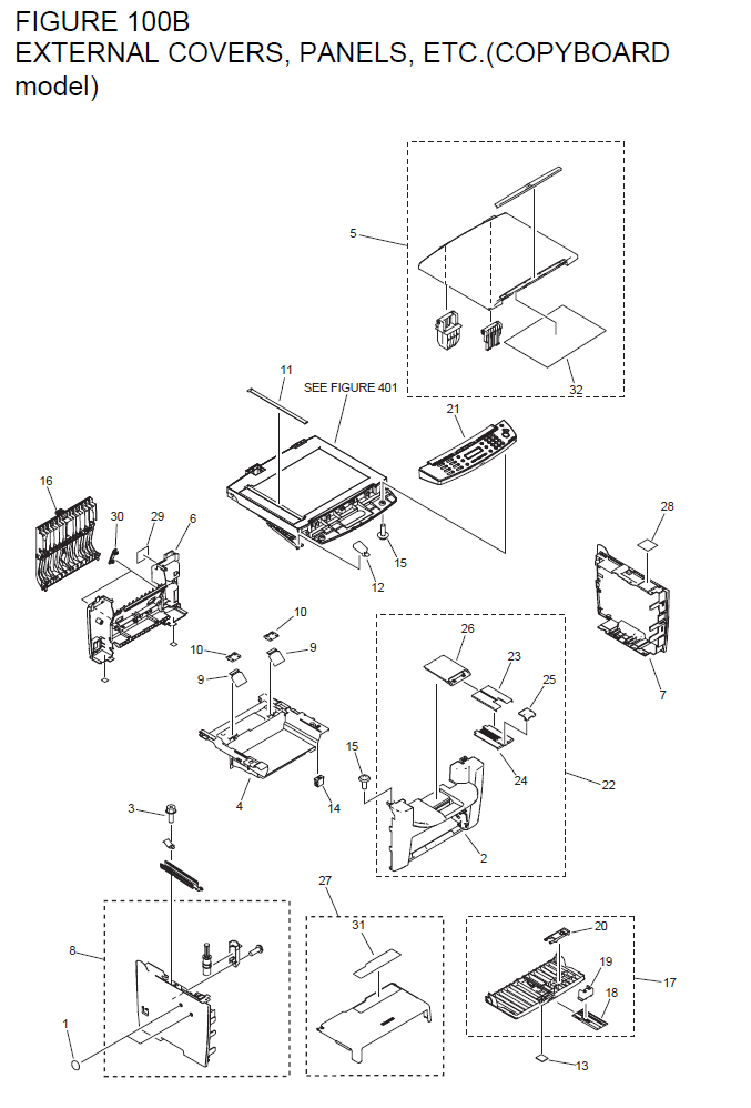 Canon imageCLASS MF4370dn Parts List and Diagrams