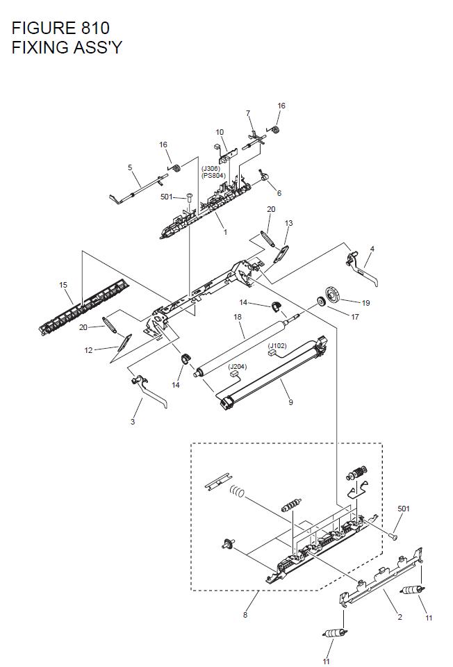 Canon imageCLASS D480 Parts List and Diagrams