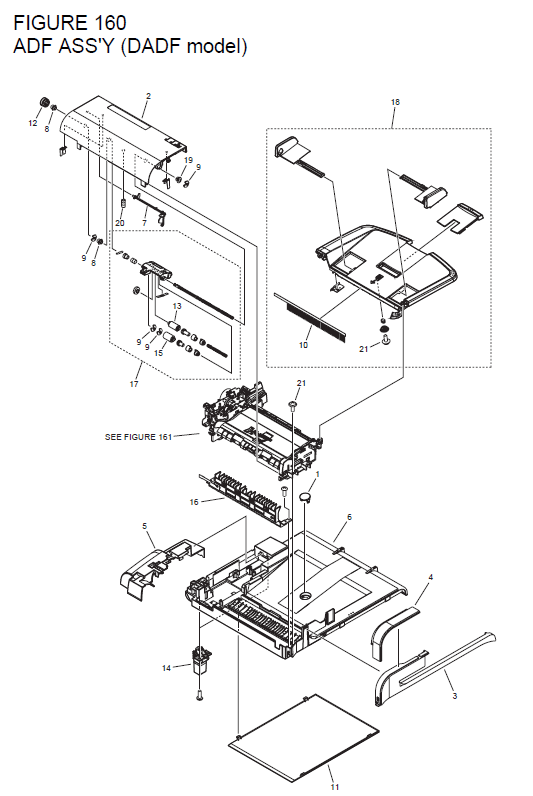 Canon imageCLASS MF4450 Parts List and Diagrams