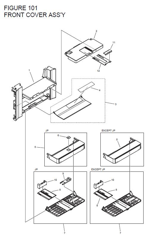 Canon imageCLASS D550 Parts List and Diagrams