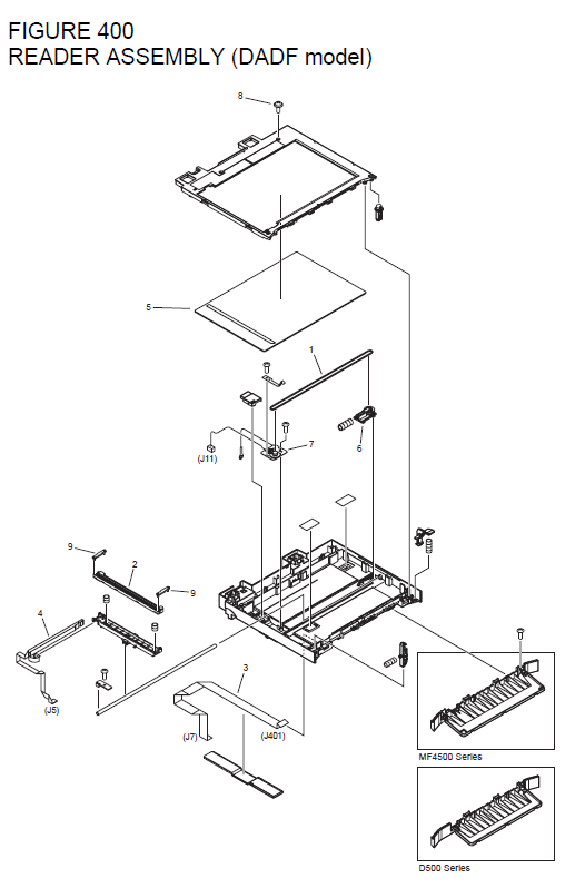 Canon imageCLASS MF4430 Parts List and Diagrams
