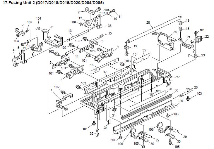 Savin 9025B Parts List and Diagrams Manual