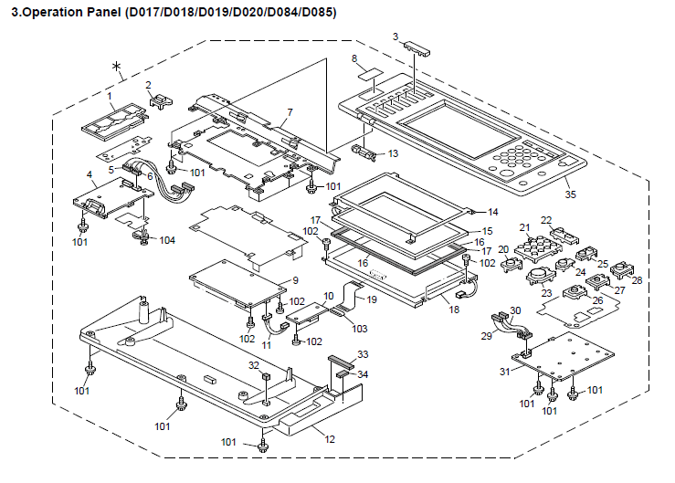 Ricoh Aficio MP 3351SP Parts List and Diagrams Manual