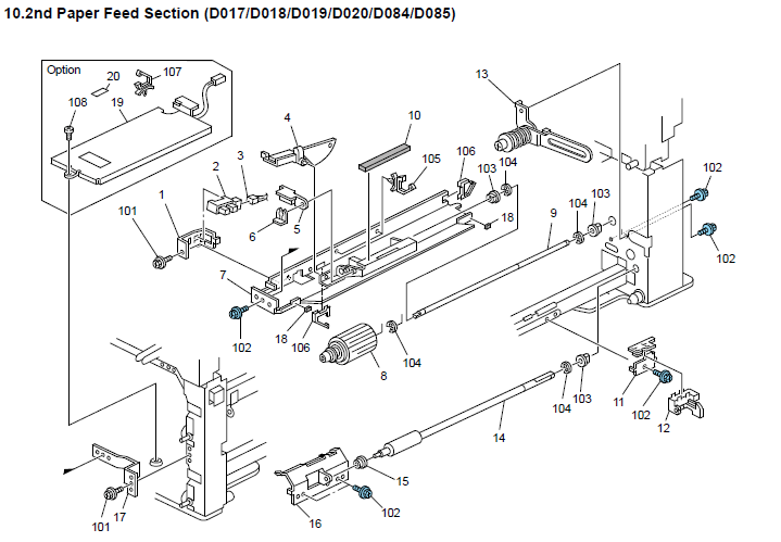 Savin 9025B Parts List and Diagrams Manual