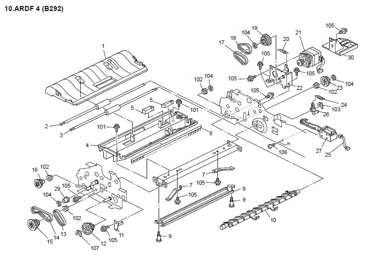 Gestetner DSm416pf Parts List and Diagrams