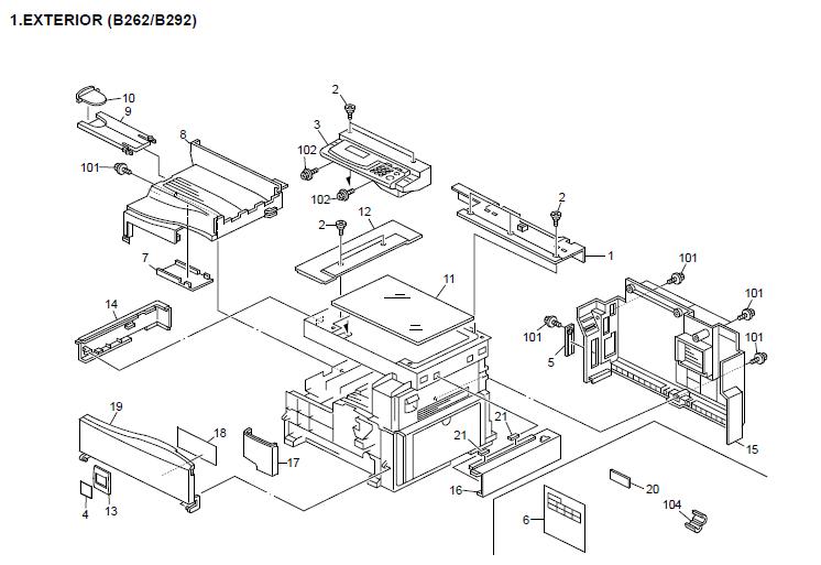 Savin 816mf Parts List and Diagrams Manual
