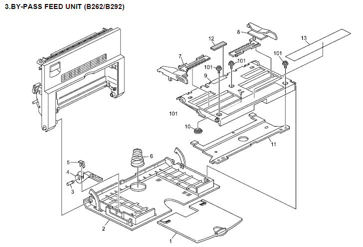 Ricoh Aficio MP 161 Parts List and Diagrams