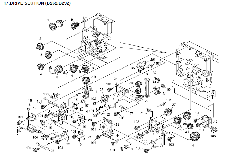 Savin 816mf Parts List and Diagrams Manual